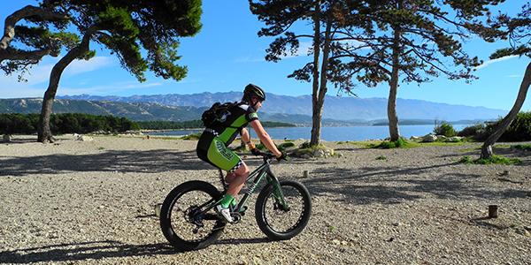 S kolesom na plažo